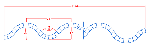 ورق پلی کربنات پلی ویو Polywave (سینوسی)